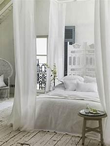 Chambre Shabby Chic : lit baldaquin moderne pour chambre d 39 adulte et d 39 enfant ~ Preciouscoupons.com Idées de Décoration