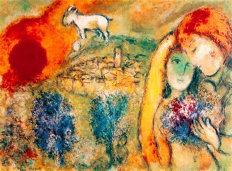 marc chagall die liebenden von vence limitiert
