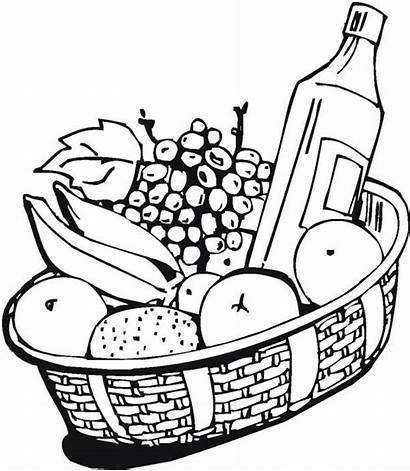 Wine Coloring Pages Fruit Fruits Netart Getdrawings