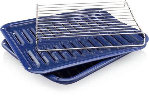 cooking rack of smart choice broilpanr broiler pan kit with roasting rack