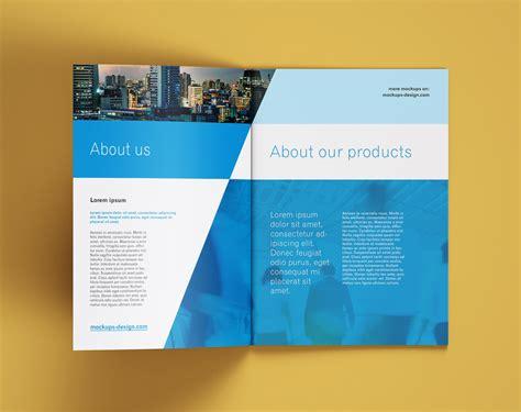 multi page brochure company profile mockup psd