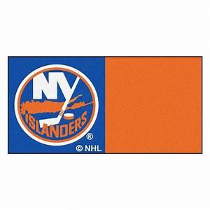 FANMATS NHL - New York Islanders Blue and Orange Pattern