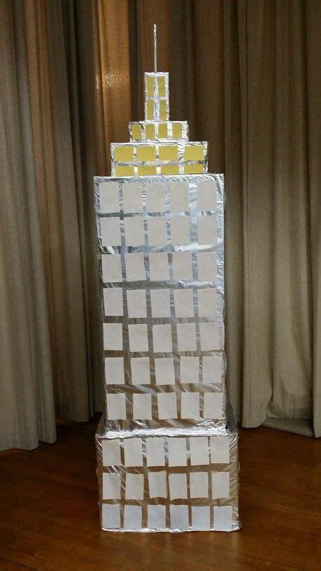 empire state building   carton boxes foil paper
