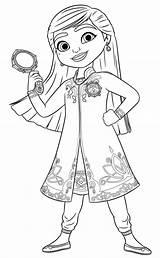 Mira Detective Royal Coloring Printable Funny sketch template