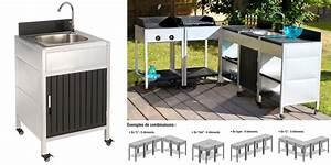 Evier D Exterieur Pour Jardin : module evier pour cuisine exterieur avec un bac en inox et ~ Premium-room.com Idées de Décoration