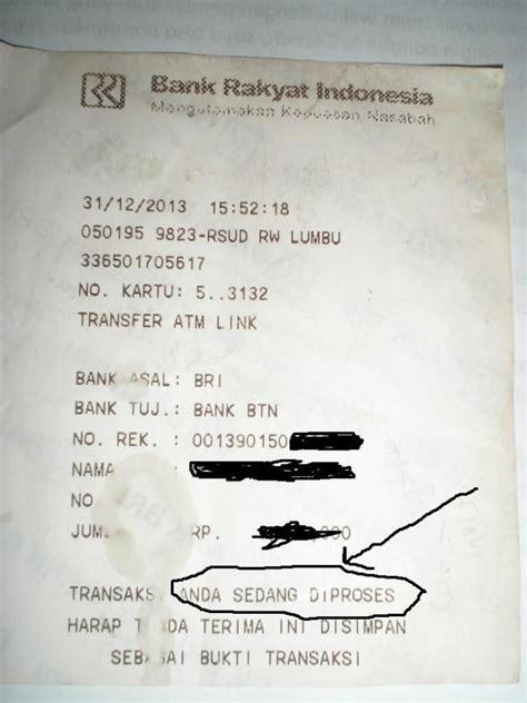 pengalaman gagal transfer  atm bri oleh edy priyono