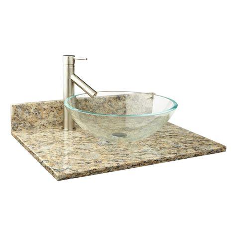 narrow depth granite vessel sink vanity top