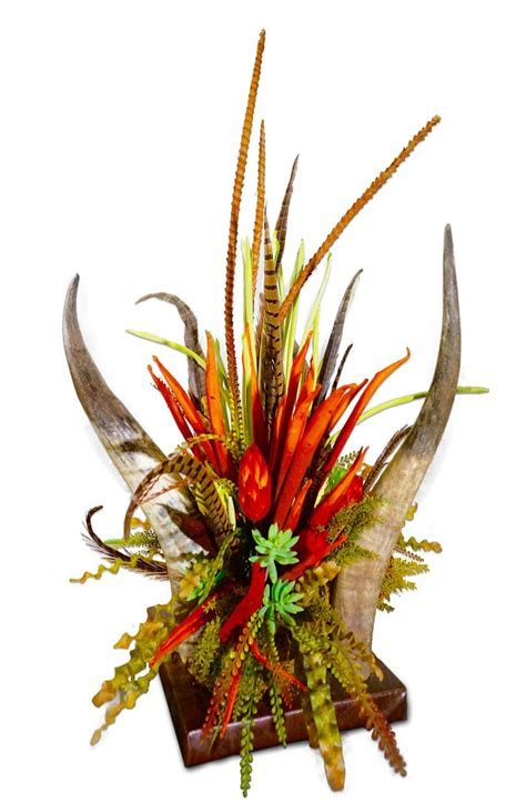 Horn and Floral Centerpiece: Western Passion