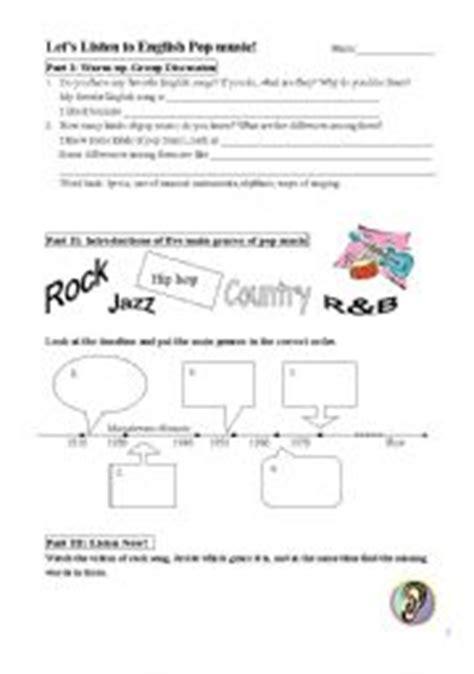 english worksheets listening  english pop
