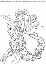 Coloring Rapunzel Pages Disney Printable Tangled Cartoon sketch template