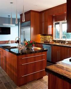 African Mahogany Kitchen