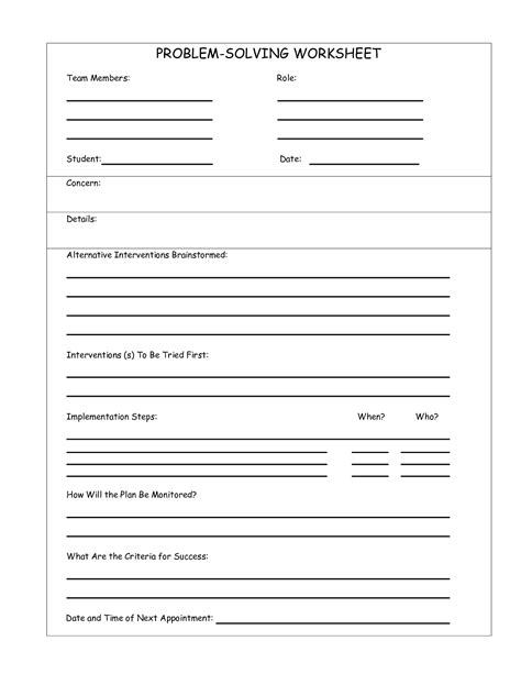 15 Best Images Of Problem Solving Therapy Worksheets  Problem Solving Worksheets, Behavior