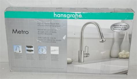 hansgrohe metro high arc kitchen faucet 04259805 new ebay
