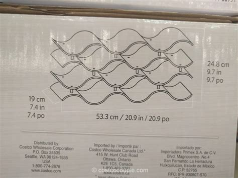 costco wine rack seville wavy wine rack