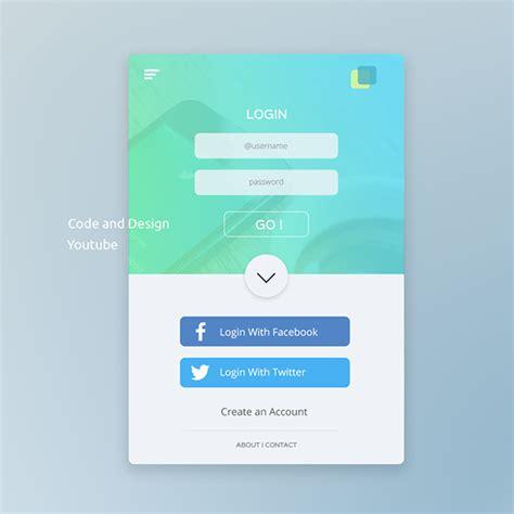 ui design tutorial  photoshop mobile app login page