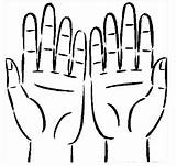 Hands Coloring Colouring Hand Body Pages Clipart Human Parts Printable Clip Clean Face Cliparts Library sketch template
