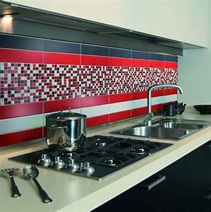 carrelage mural rouge cuisine carrelage idees de With carrelage mural rouge cuisine