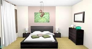 Decoration D Interieur Idee : idee deco papier peint chambre adulte decoration d ~ Melissatoandfro.com Idées de Décoration