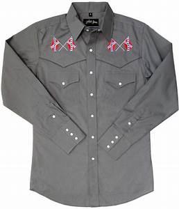 White Horse Men's Vintage Western Shirt: Embroidered