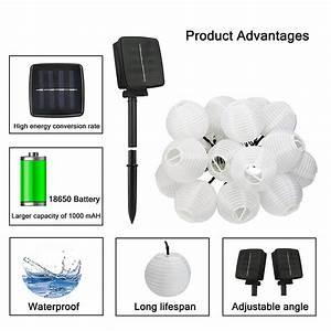 Lampion Lichterkette Solar : aled light solar lampion lichterkette indoor outdoor ~ Watch28wear.com Haus und Dekorationen