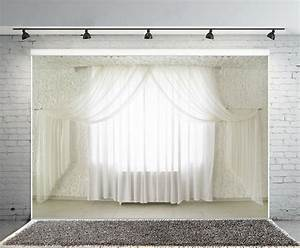 9x6ft, Bedroom, Backdrops, White, Curtains, Backgrounds, Studio, Plain, Photography, View