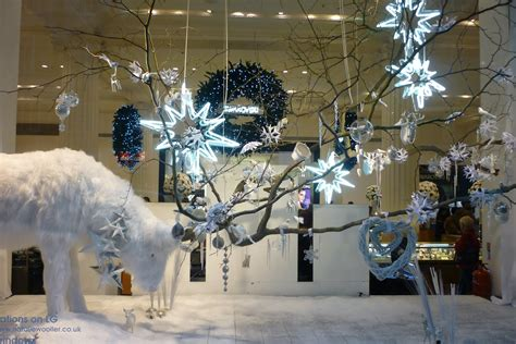 christmas decoration visual made in a window