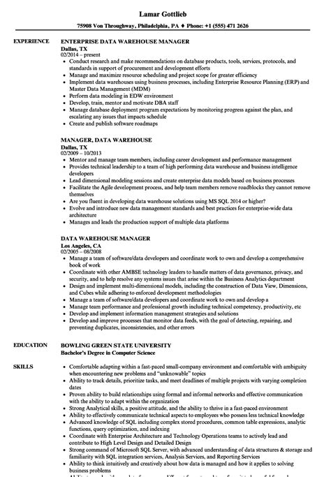 warehouse manager sle resume iso coordinator cover letter