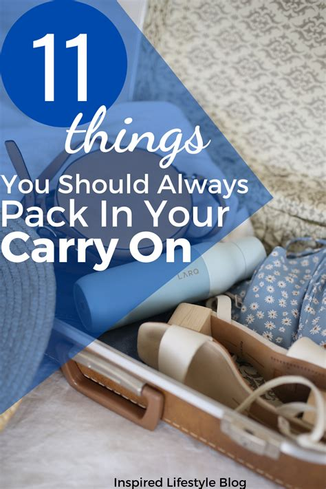 11 Things You Should Always Pack In Your Carry On in 2020 ...