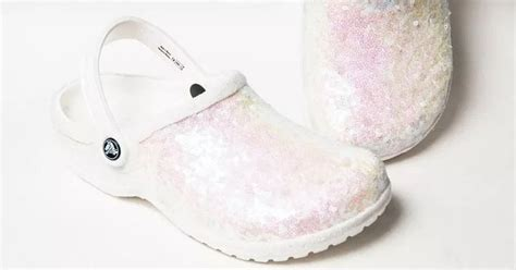 white sparkly bridal crocs      bride needed