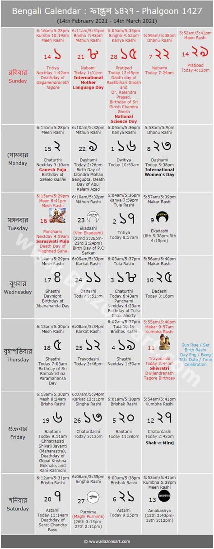 bengali calendar phalgoon