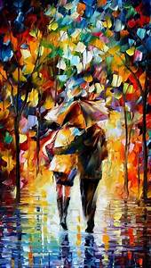 Umbrella couple painting iPhone 5 wallpapers   Top iPhone ...