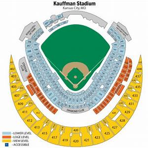 Kauffman Stadium Seating Chart Awesome Kauffman Stadium Seating Chart With Rows Seating