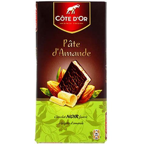 chocolat noir fourre a la pate d amande tous les