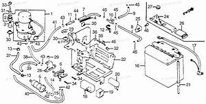 Honda Motorcycle 1982 Oem Parts Diagram For Battery    Fuel Pump