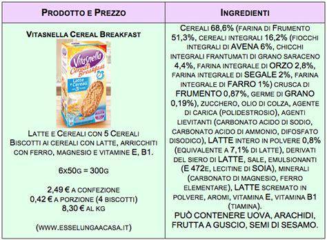 vitasnella cereal breakfast cari   unetichetta furba