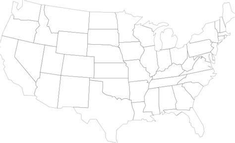 United States Outline Map Clip Art At Clker.com