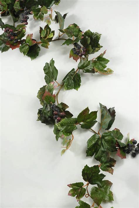 6 artificial grape leaf garlands