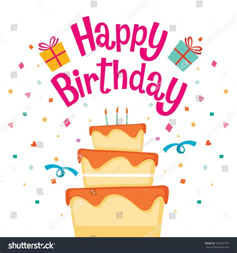 happy birthday letters cake happy birthday letter banquet stock vector