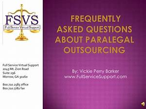 frequently asked questions about paralegal outsourcing With legal document preparation manual for the paralegal certificate course