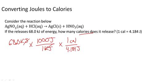 Converting Joules To Calories