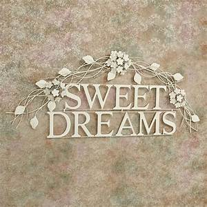sweet dreams creamy gold metal word wall art With word wall art