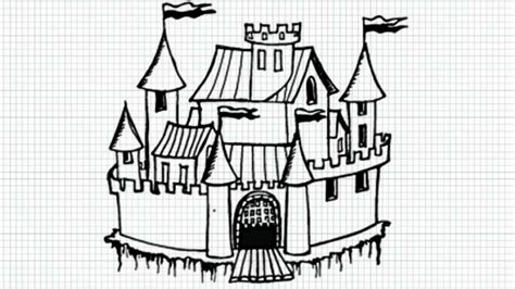 draw cartoon castle video youtube