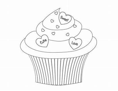 Cupcake Coloring Cupcakes Ice Cream Printable Birthday