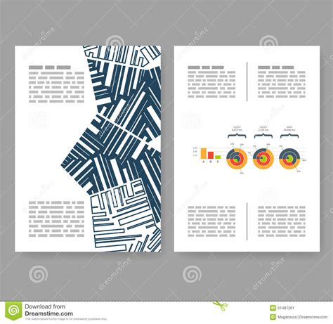 flyer leaflet booklet layout editable design template a4 stock vector image 51481261