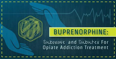 buprenorphine suboxone subutex  treat opiate addiction