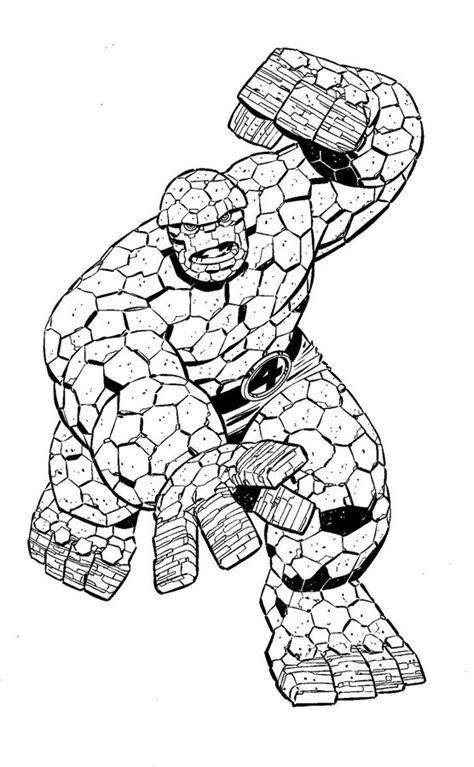 coloring pages ben grimm  printable  kids adults