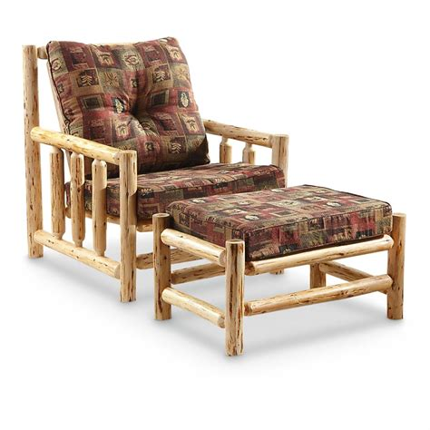 arm chair with ottoman castlecreek log arm chair with ottoman 616644 living