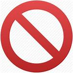 Restrictions Entry Restriction Icon Closed Transparent Forbidden