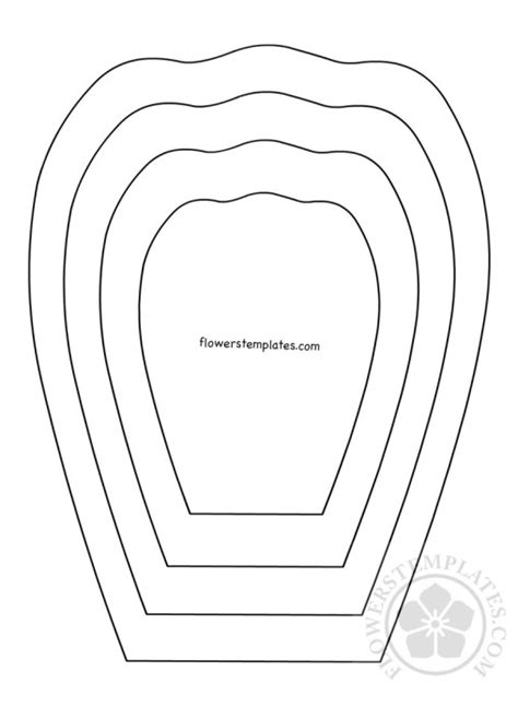 Flower Petal Template Flower Petal Flowers Templates Part 2