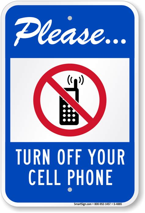 shut phone turn cell phone signs smartsign